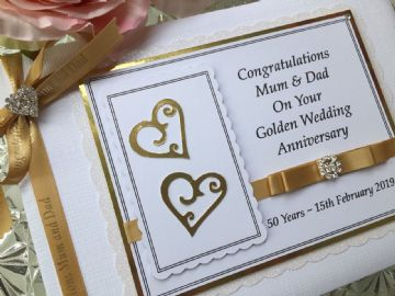 Personalised Golden Wedding Anniversary Guest Book